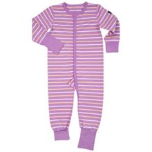 Polarn O. Pyret Girls Striped Onesie Pyjamas