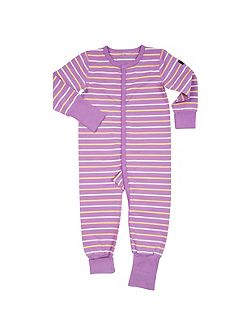 Girls Striped Onesie Pyjamas