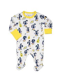 Babies Musical Animal Print Onesie Pyjamas