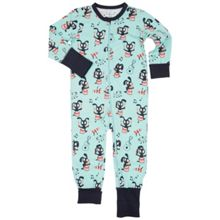 Polarn O. Pyret Kids Musical Animal Print Onesie Pyjamas