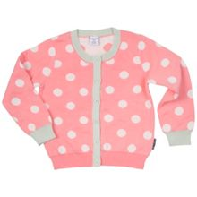 Polarn O. Pyret Girls Polka Dot Cardigan