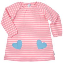Polarn O. Pyret Girls Heart Pocket Dress