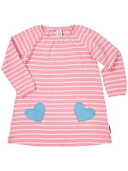 Girls Heart Pocket Dress