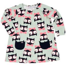 Polarn O. Pyret Girls Cat Print Dress