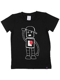 Kids Bot Motif T-Shirt
