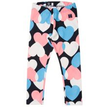 Polarn O. Pyret Girls Heart Print Leggings