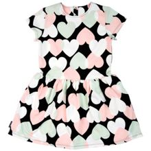 Polarn O. Pyret Girls Heart Print Sweatshirt Dress