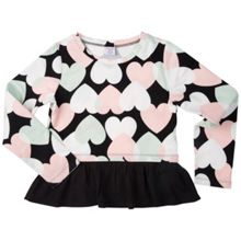 Polarn O. Pyret Girls Heart Print Sweatshirt Top