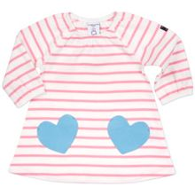 Polarn O. Pyret Babies Striped Dress with Heart Pockets