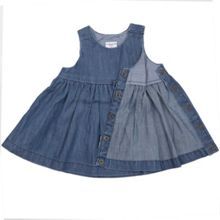 Polarn O. Pyret Baby Girls Denim Dress