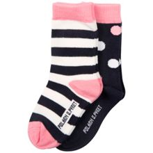 Polarn O. Pyret Baby Girls Spots & Striped Socks