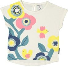 Polarn O. Pyret Baby Girls Retro Floral T-Shirt