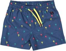 Polarn O. Pyret Boys Palm Tree Print Swim Shorts