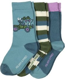Polarn O. Pyret Baby Safari Print Socks