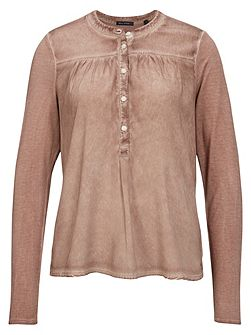 Long-Sleeve Top Viscose-Silk Mix