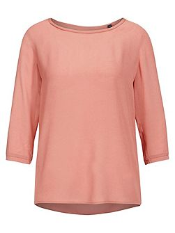 Shirt-Blouse In Rayon-Modal Crepe