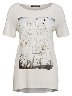 Print T-Shirt In Pure Viscose