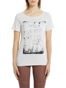 Marc O'Polo Print T-Shirt In Pure Viscose