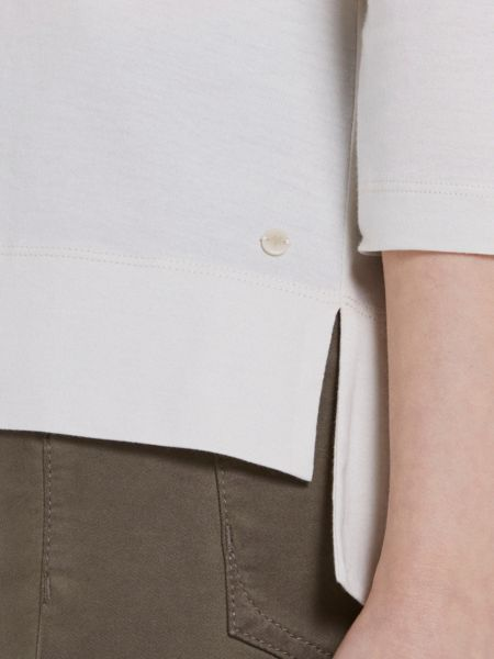 Marc O'Polo Wide Shirt In Soft Mercerised Cotton