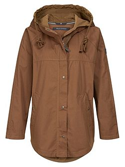 Cape Parka In Cotton-Mix