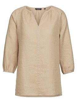 Tunic Blouse In Pure Linen