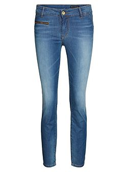 Alby Turn Jeans In Summer Denim