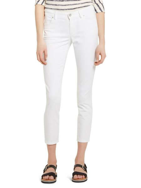 Marc O'Polo Alby Cropped Trousers Sateen Stretch
