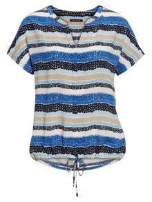 Marc O'Polo Short-Sleeved Blouse In Pure Viscose