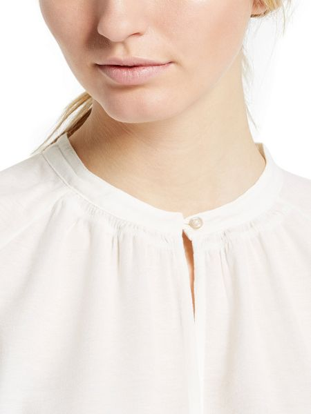 Marc O'Polo Short-Sleeved Blouse In A Cotton Mix