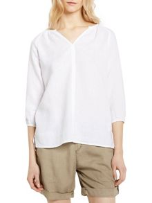 Marc O'Polo Tunic Blouse In Pure Linen