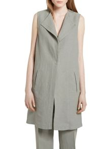Marc O'Polo Long Waistcoat Structured Twill