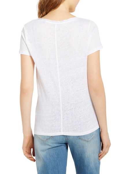 Marc O'Polo T-Shirt In Pure Linen