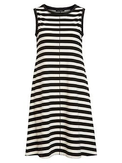 Jersey Dress Striped Pattern