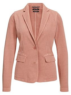 Jersey Blazer In Pure Cotton