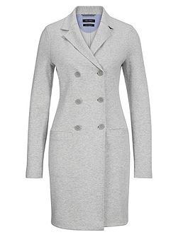 Jersey Coat In Cotton-Mix