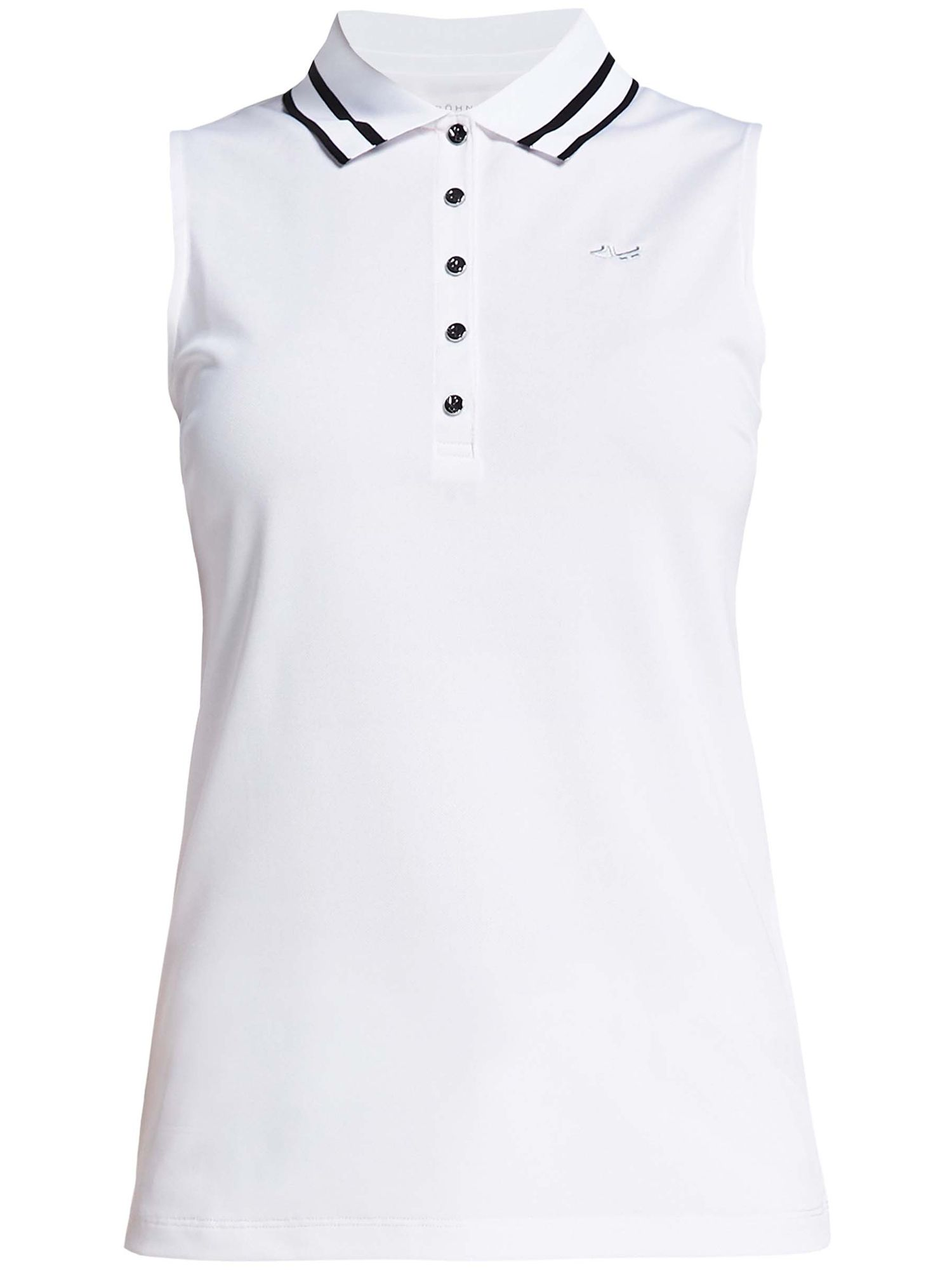 Rohnisch Pim Sleeveless Polo, White