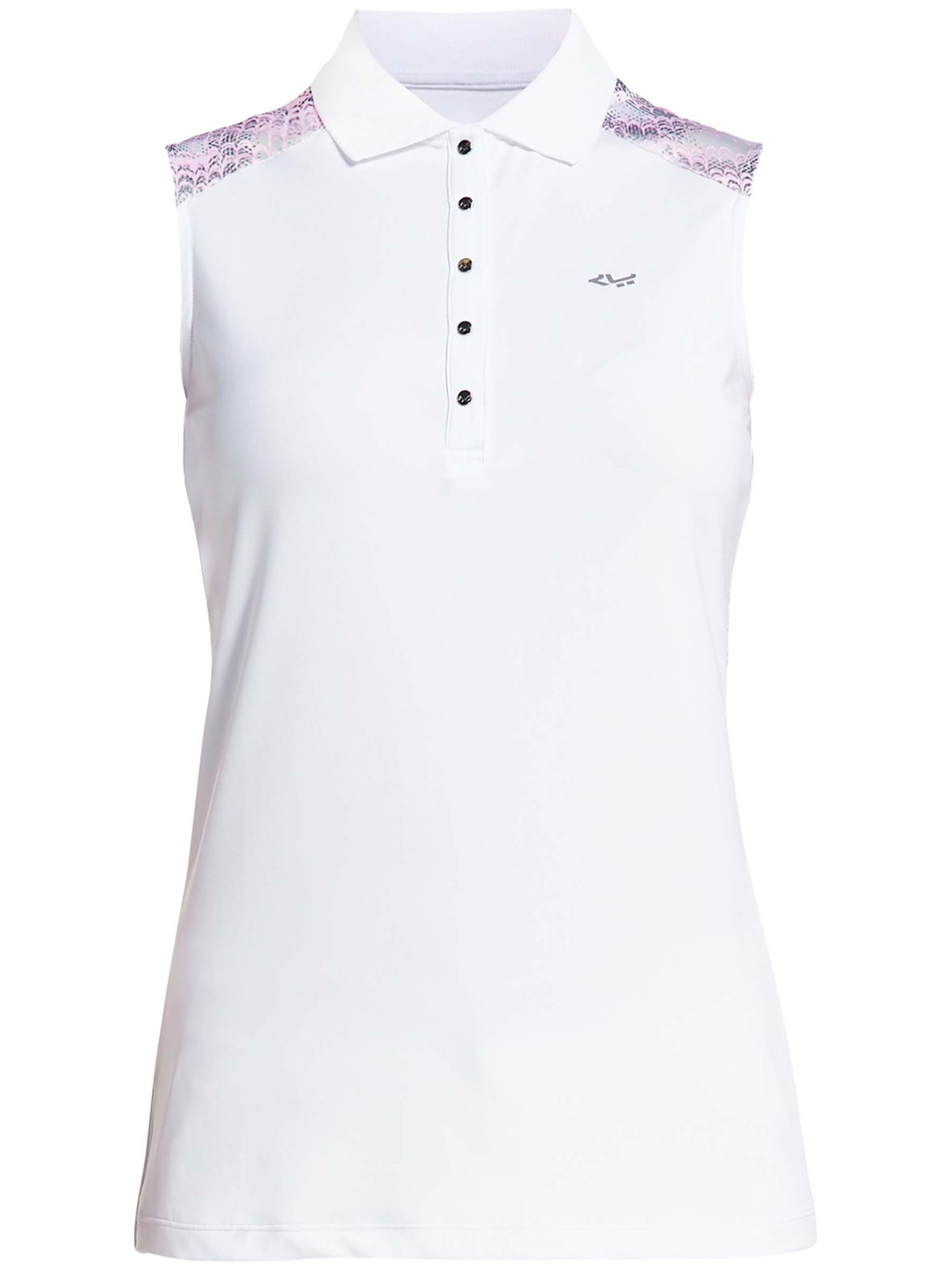 Rohnisch Print Sleeveless Polo, 161 Cherry Blossom