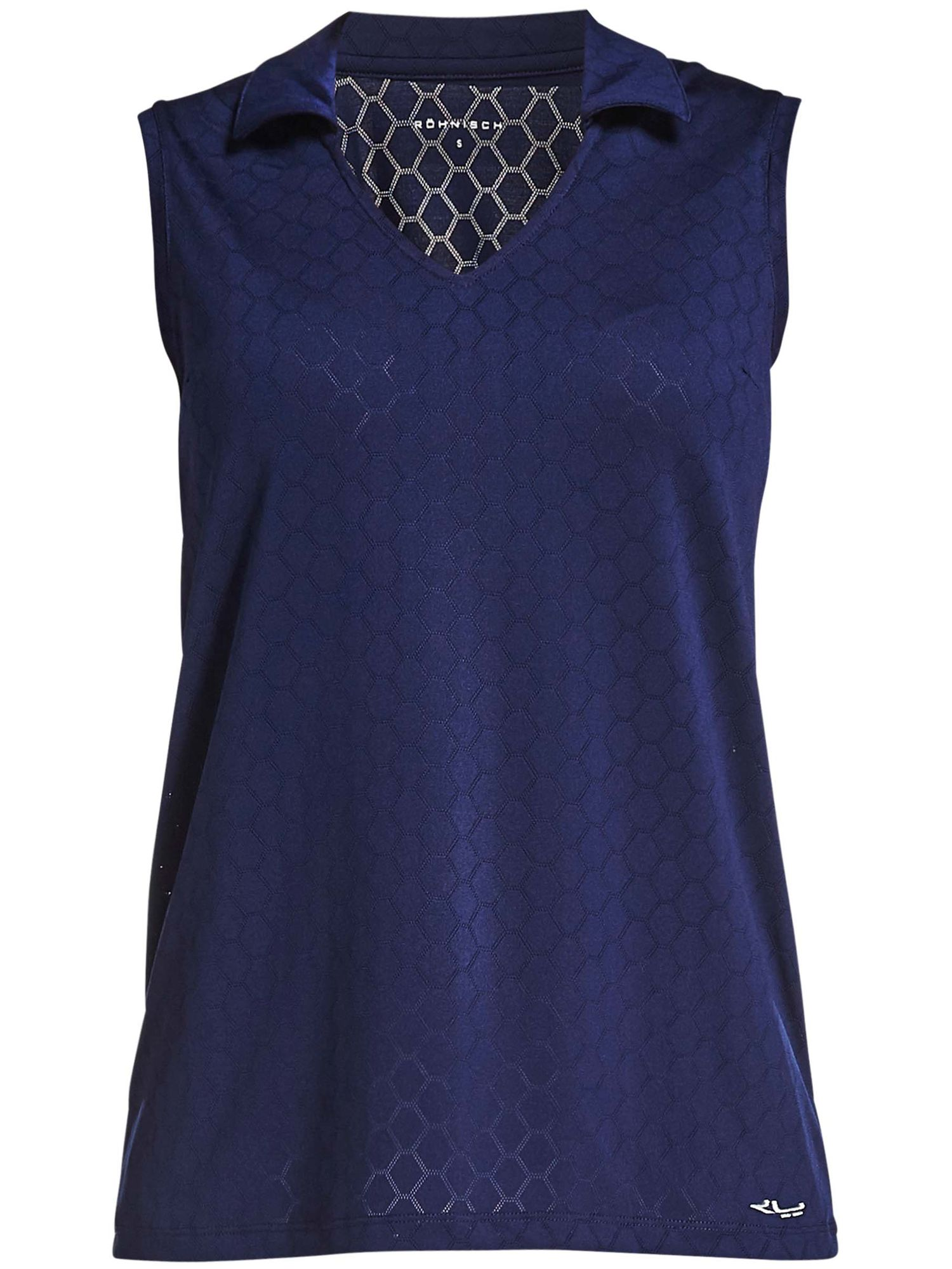 Rohnisch Jacquard Sleeveless Polo, Blue