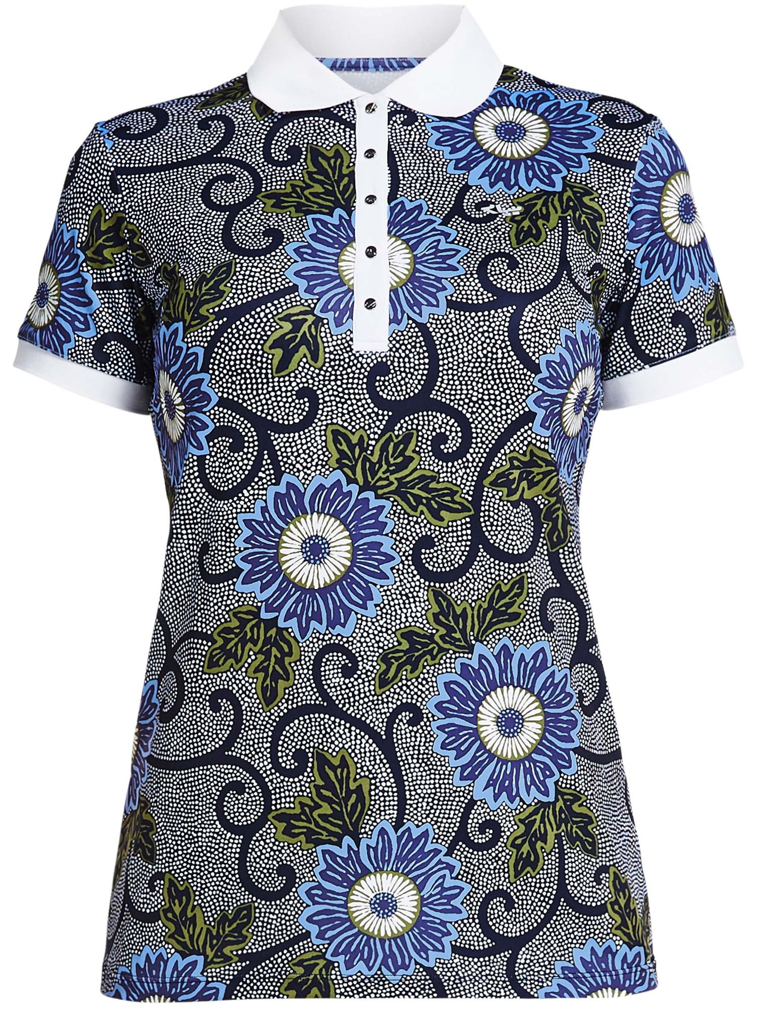 Rohnisch Aop Short Sleeved Polo, Blue