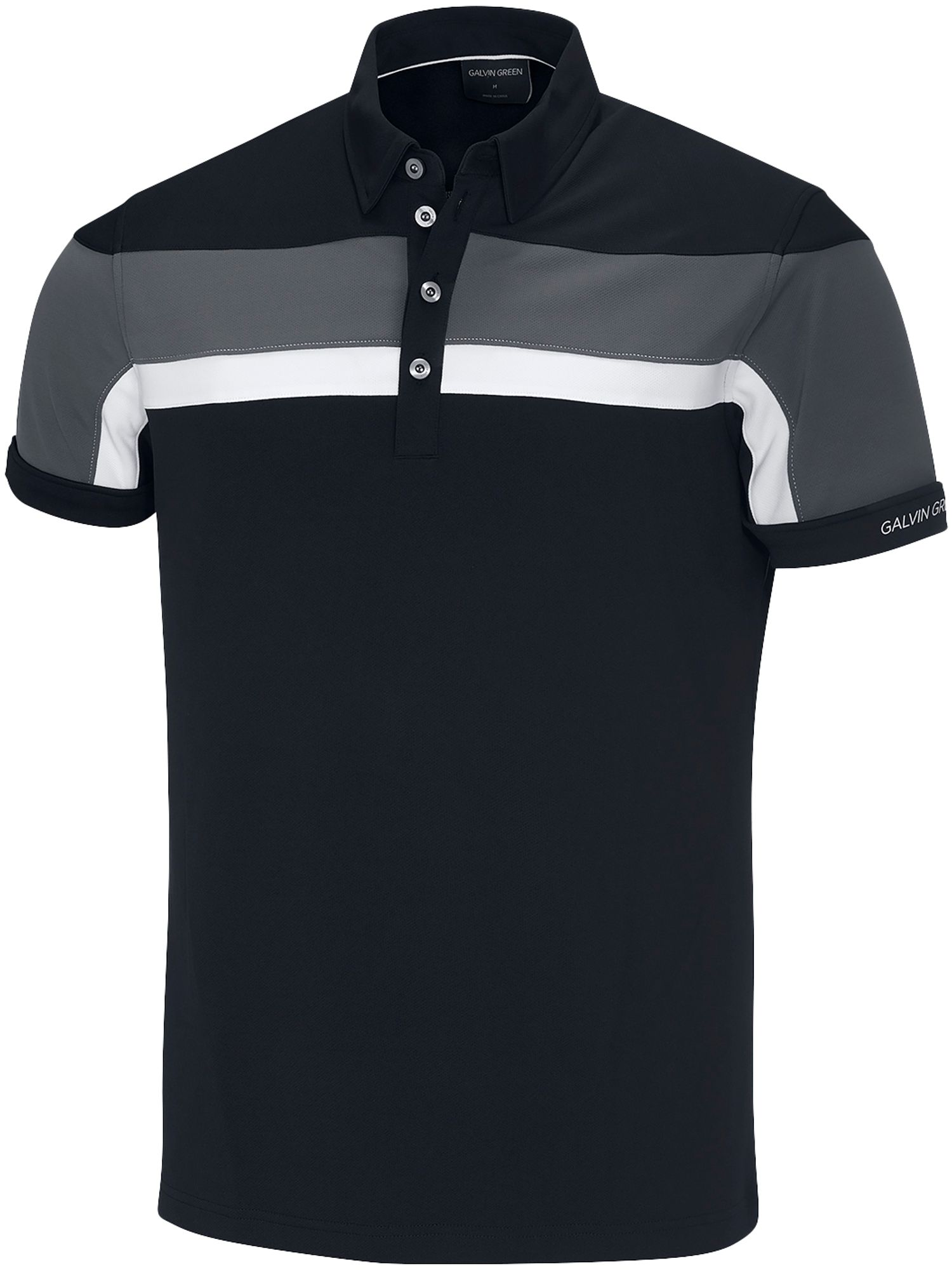 Men's Galvin Green Mitchell Ventil8 Polo, Black