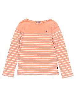 Girls Breton Stripe Long-Sleeved Tee
