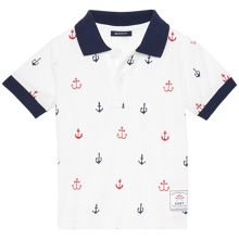 Baby Boys Anchor Short Sleeve Pique