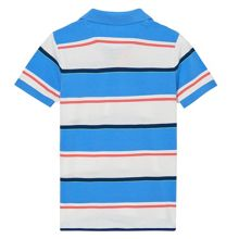 Gant Boys Coloured Stripe Short Sleeve Pique