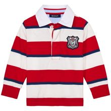 Baby Boys Striped Ls Heavy Rugger