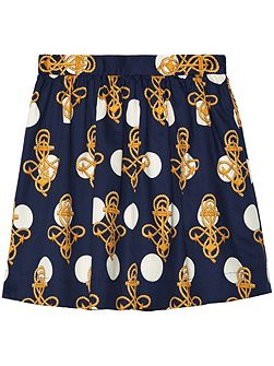 Girls Anchor Dot Skirt