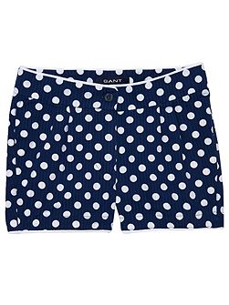 Girls Seersucker Dot Shorts