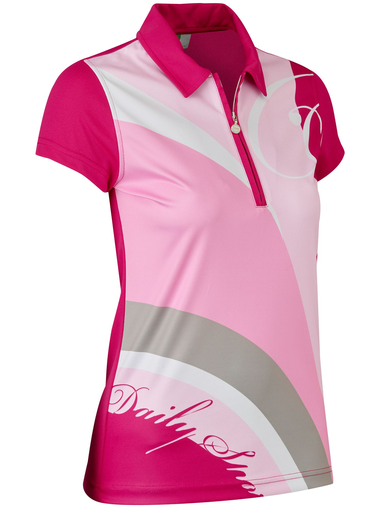 Daily Sports Lottie Cap Sleeve Polo, Pink