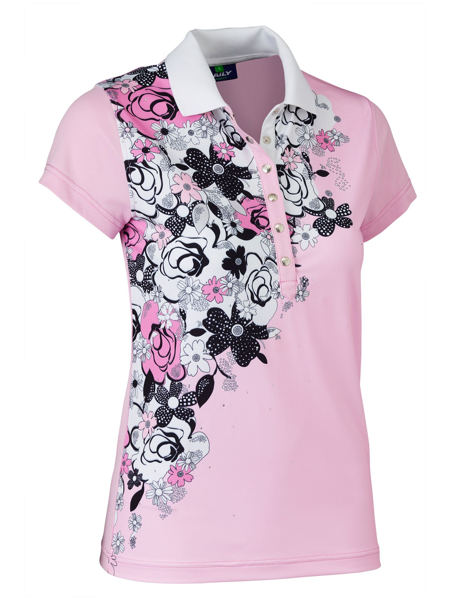 Daily Sports Nell Cap Sleeve Polo, Pink