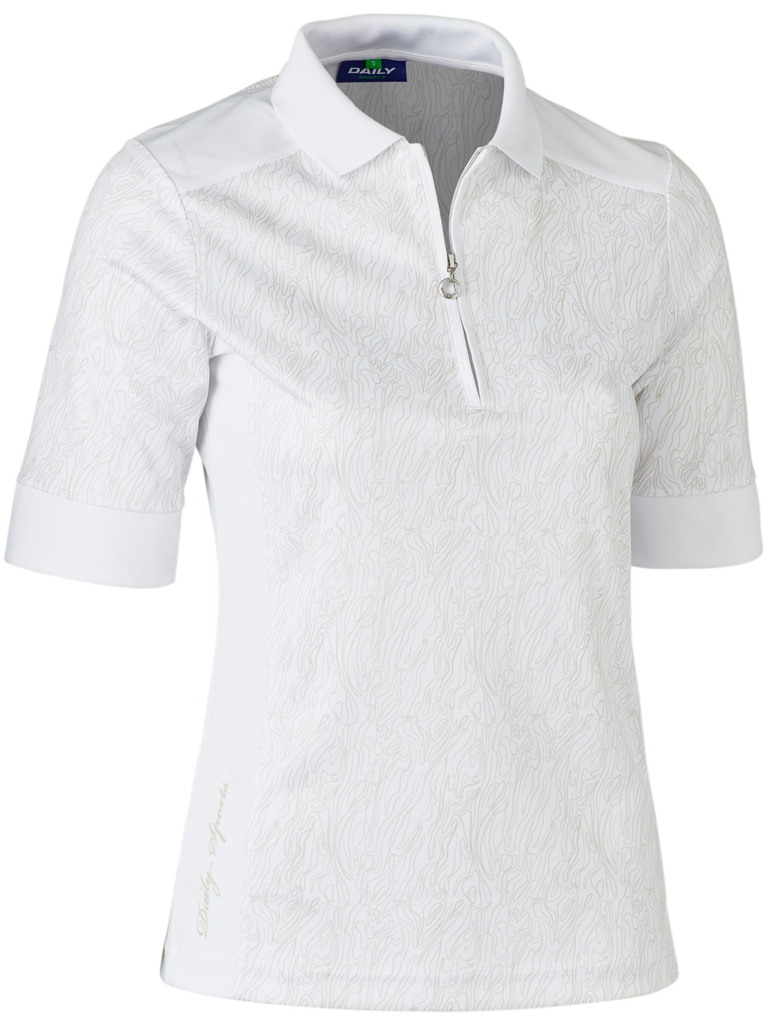 Daily Sports Tania 1/2 Sleeve Polo, White
