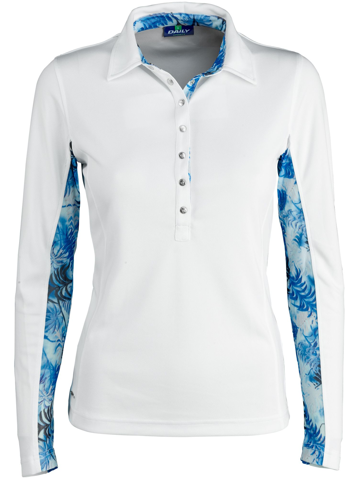 Daily Sports Renata Long Sleeve Polo, White